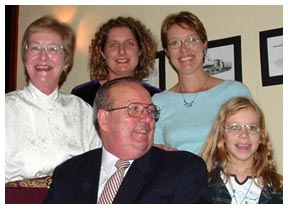 Dr frank Madill with his family